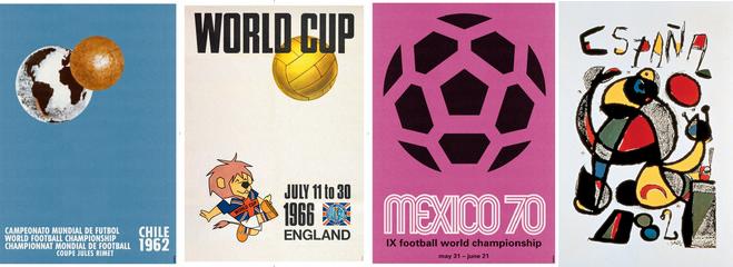 Los mejores carteles de los mundiales de fútbol: de Montevideo 1930 a Brasil 2014